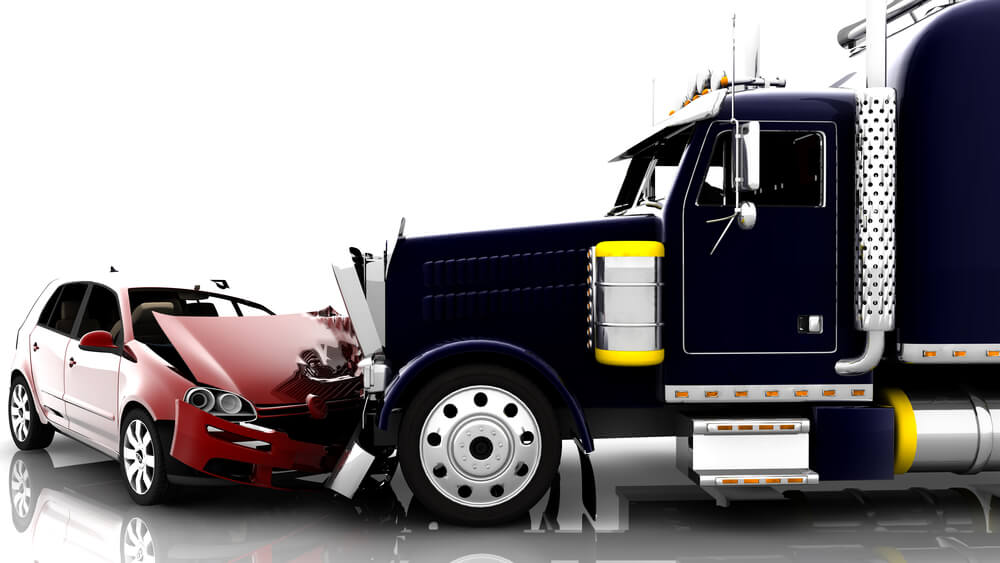 truck and car accident graphic image